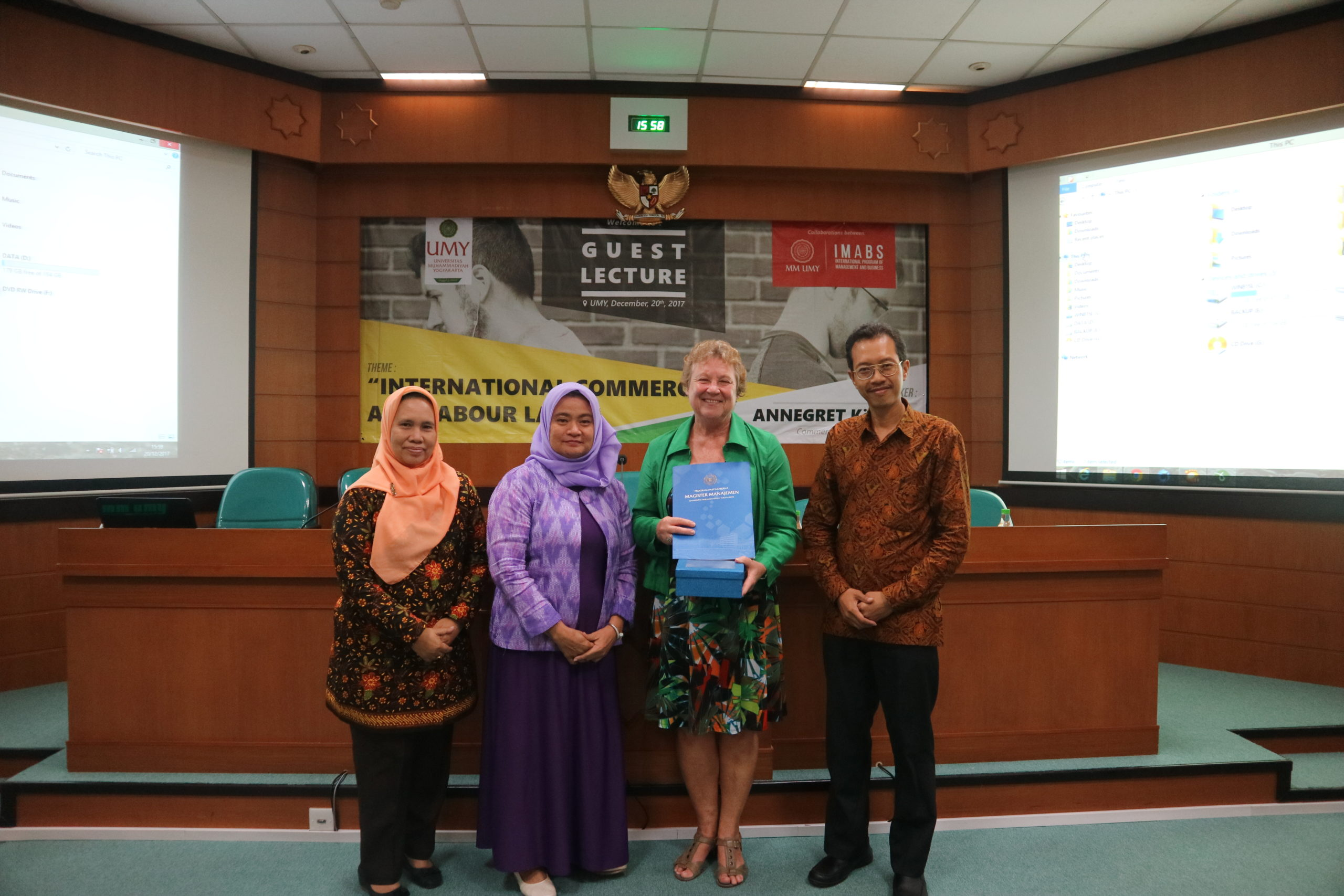 """Guest Lecture bertajuk """"International Commerce and Labour Law"""""""